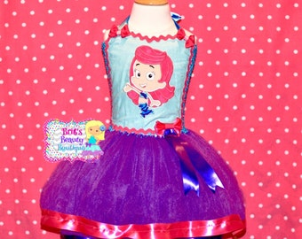 Inspired by Molly Bubble Guppies Tutu Dress Costume/Character Tutu Dress/Halloween Tutu Costume/Pageant Wear