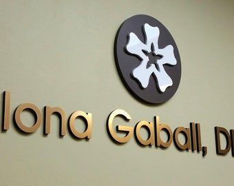Lobby Wall Sign | Dentist Sign | Office Reception Custom | cutout letters