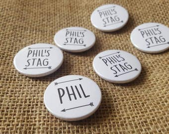 Personalised Arrow Stag Do / Wedding / Team Groom Badge / wedding accessories