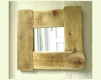 Irish driftwood mirror unique driftwood mirror handcrafted Irish driftwood decor Country Cottage Reclaimed wood homewares from Ireland (X)