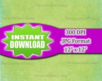 Distressed Edge Green Digital Scrapbook File - 300 DPI - JPG File Format - 12x12 - High Resolution - INSTANT Digital Download - 0204
