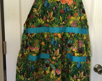 Humming bird and Butterfly Apron