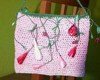 Hand bag handbag clutch paper yarn
