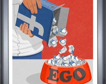 facebook likes, signed limited edition print