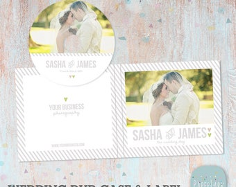 Wedding DVD/Cd Case and Label - Photoshop Template -DW001- INSTANT Download