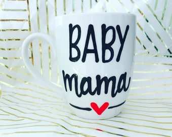 Baby Mama New Mom 2017- Baby Shower Gift- Baby Pregnancy Gift - unborn child gift - new baby new mommy gift- mom gift- mama mug-mommy to be
