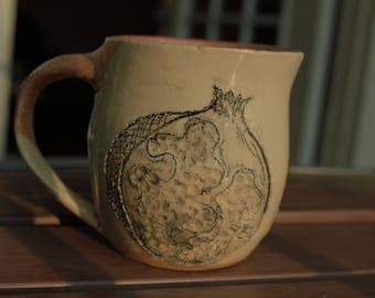 Homemade Ceramic Pomegranate Mug