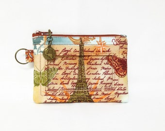 World Map Print ID Window Wallet, Student ID Holder, Small Zip Coin Purse, Business Card Or License Holder, Badge Id Holder, Keyring Holder