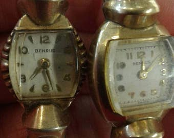 Vintage Benrus watches lot of 2 repair or repurpose