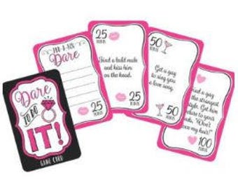 Game Team Bride Truth or Dare Cards - Bridal Shower, Hens Night, Girls Night