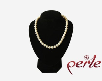 Set - Necklace and bracelet with pearls and one sparkly ball