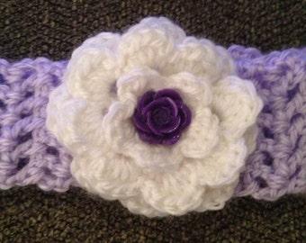 Crocheted Baby Girl Headband - 6-12 months