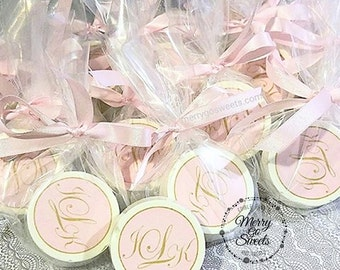 Chocolate Covered Oreos // Bridal Shower Favors // Monogram Favors // edible bridal shower favor // edible monogram favors // monogram favor