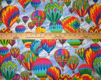 Hot Air Balloon Sky C5444 Cotton Fabric by Timeless Treasures! [Choose Your Cut Size]
