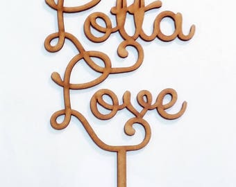 Whole lotta love Cake Topper Sign Laser cut wood Wedding decoration engagement