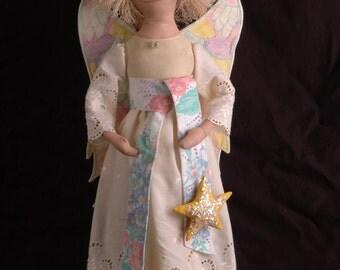 Primitive Folk Art Angel Doll from Misty Morning Prims