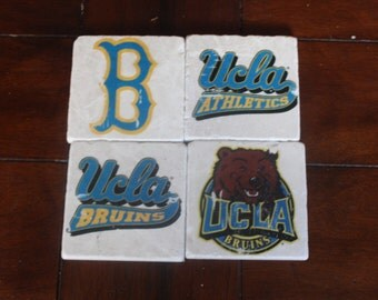 UCLA Marble Coasters FREE SHIPPING
