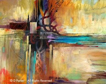 Abstract Art Fine Art Print  •  Contemporary Painting Reproduction • CELTIC SONG •  Modern Art Painting
