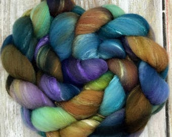 Dandelions And Daisies  - Merino Tussa Silk Comb Top - Roving - Spinning Fiber - Hand Dyed Wool - felting supplies - hand spun - Wool