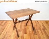 SALE antique wood table, antique table, folding table, side table, desk table, wonderful antique wooden folding table, rustic farmhouse, vin