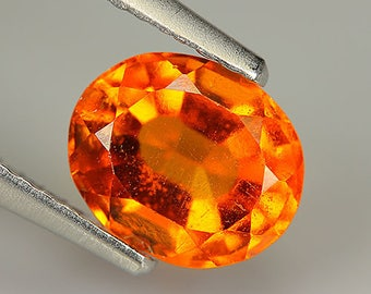 1.54 Ct Natural loose HESSONITE GARNET Oval Gem