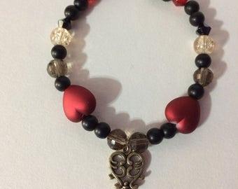 Key to my Heart Beaded Bracelet