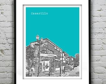 Camarillo California Skyline Poster Print Art California CA Version 1