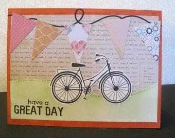Handmade Stamped and Die-cut Greeting Card