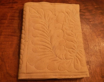 quilted leather journal