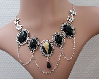 Gothic necklace - little Dacadenz - Ravenskull