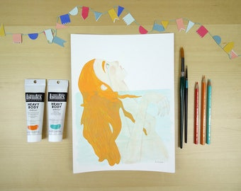 Underwater - Illustration print