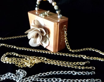 Cross Body Chain for use with my Cigar Box Purses