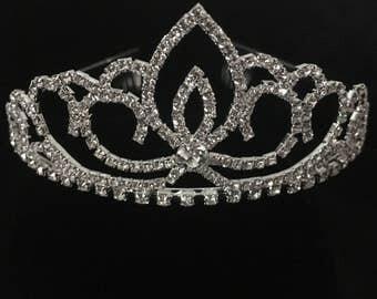 1st Communion Tiara Crown, Bridal Vintage Tiara  Crown, Art Deco Design Tiara, Wedding Bridal Hair Crown,