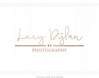 Rose Gold Logo, Premade Photography Logo, Logo Design, Stamp Logo, Branding Design, Watermark Logo - L143