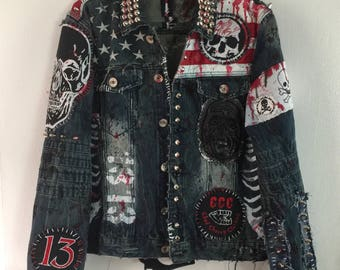 American Monster denim jacket by Chad Cherry