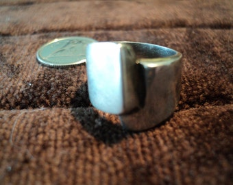 Israel Squared Wrap Around 8.8g Sterling Silver Ring (5.75)