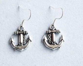 Earrings Anchor, sailor girl, sea, nautic, ship, boat, rockabilly, pinup girl