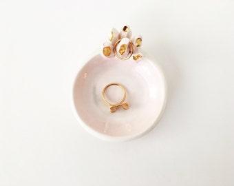 Crystal Ring Dish - Ceramic Ring Holder - Crystal Ring Holder - Potterylodge - Ceramics and Pottery