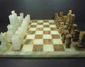 Stone Chess Set Etsy