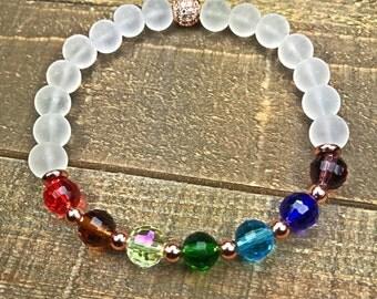 Chakra Bracelet, Meditation Bracelet, chakra jewelry, yoga inspired, beaded bracelet, jewelry, gemstone bracelet, bracelets, yoga jewelry