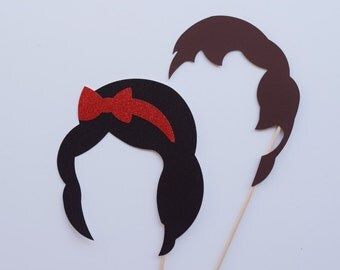Snow White and Prince Photo Booth Props ; Fairytale Birthday Party ; Wedding Photo Booth Props