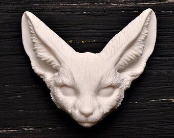 Fennec Fox Cameo Cabochon Animal Totem Polymer Clay Charm