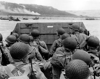 Approaching Omaha Beach, Normandy, France, WWII, Landing Craft