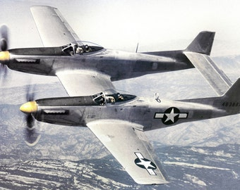 North American XP-82 Twin Mustang 44-83887 on test flight over Sierras, 1945