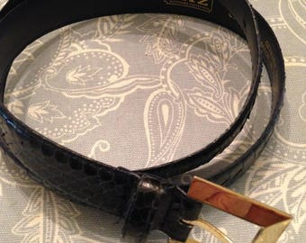 The Ritz Accessory Collection Snake Skin Belt Made In R.O.C.