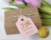 Thank You Tag Wedding Thank You Tags Gold Gift Tags Wedding Favor Thank You Printable Wedding Printable PDF Instant Download D04