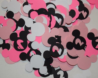 240 Minnie Mouse Confetti Heads 2nd Birthday Party Cut Outs Die Cuts Disney