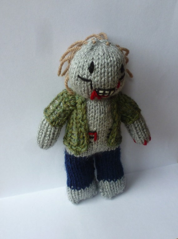 Zombie Knitting Pattern : Pdf knitting pattern zombie from nerdknitting on etsy studio