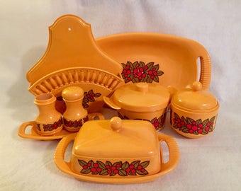 Vintage 8 pc. Emsa Kitchenware Set with Red Berries