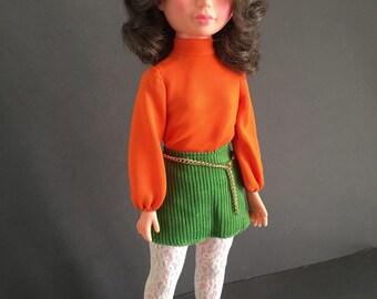 Vintage Doll Brunette 17in 1960s 1970s